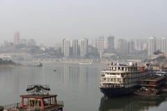 Ships in the yangzi river. Take in chongqing,China Stock Images