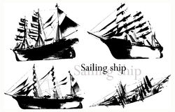 shipvektor stock illustrationer