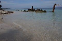 Shipwreak en el agua poco profunda Jamaica Fotos de archivo