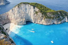 Shipwrech at Navagio beach, Zakinthos, Zante, Zakynthos Stock Photography