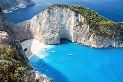 Shipwrech at Navagio beach, Zakinthos, Zante, Zakynthos Royalty Free Stock Photo