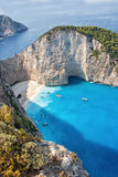Shipwrech at Navagio beach, Zakinthos, Zante, Zakynthos Stock Photos