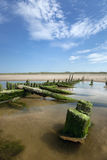 Shipwreck. The historical wreck of the Star of Hope on the beach at Ainsdale on the Sefton Coast, Merseyside Stock Photography