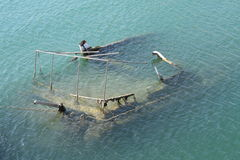 Shipwreck. Sunk in Mediterranean waters in Pireas near Athens, Greece stock photography