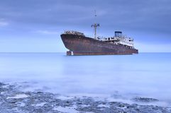 Shipwreck. Royalty Free Stock Photography