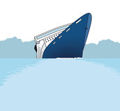 Shipwreck. Passenger ship sinking illustration Royalty Free Stock Images