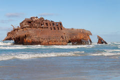 Shipwreck. From Boa Vista, Cape Verde, Africa royalty free stock photography