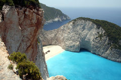 Shipwreck. The famous shipwreck-bay in zakynthos stock photography