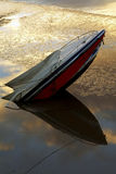 Shipwreck. Boat accident Stock Image