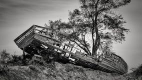 Shipwreck along the beach of Maputo Bay Royalty Free Stock Photos