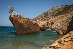 Shipwreck, Amorgos, Cyclades, Greece Stock Photo