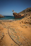 Shipwreck, Amorgos, Cyclades, Greece Royalty Free Stock Images