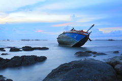 Shipwreck in Angsila Chonburi, Thailand Stock Images