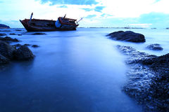 Shipwreck in Angsila Chonburi, Thailand Stock Photos