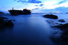 Shipwreck in Angsila Chonburi, Thailand Royalty Free Stock Photo