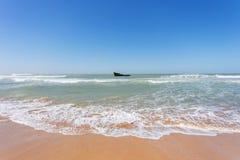 Shipwreck in the Atlantic ocean Royalty Free Stock Photo