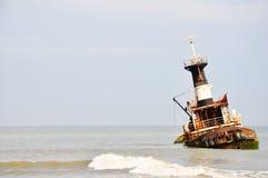 Shipwreck at Barro Do Dande Stock Photo