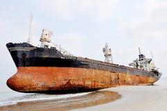 Shipwreck at Barro Do Dande Royalty Free Stock Images