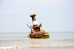 Shipwreck at Barro Do Dande Stock Image