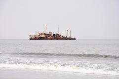 Shipwreck at Barro Do Dande Royalty Free Stock Photo