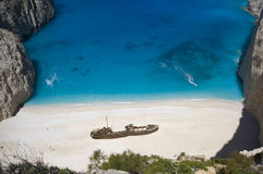 Shipwreck bay Stock Image