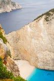 Shipwreck Bay, Navagio Beach Royalty Free Stock Image