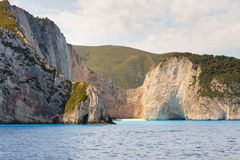 Shipwreck Bay, Navagio Beach Royalty Free Stock Image