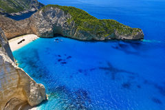 Shipwreck Bay, Zakynthos Stock Photography
