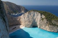 Shipwreck beach. View in Zakynthos, Greece Stock Photo