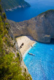 Shipwreck beach (Navagio) Royalty Free Stock Photos