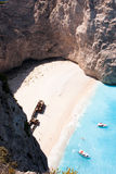 Shipwreck Beach. On Navagio Bay, Zakynthos, Greece Royalty Free Stock Images