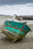 Shipwreck on a beach in Paimpol Royalty Free Stock Image