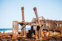 Shipwreck on the beach Stock Photos