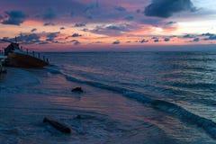 Shipwreck at Beach Royalty Free Stock Photo