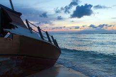 Shipwreck at Beach Stock Photo