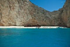 Shipwreck beach in Zakynthos Royalty Free Stock Photos