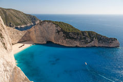 Shipwreck beach in Zante island Stock Images