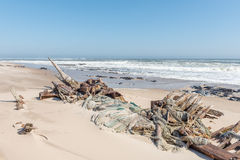 Shipwreck Benguela Eagle, which ran aground in 1973 Royalty Free Stock Photo