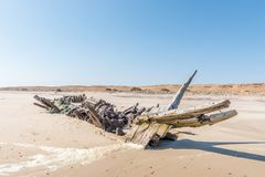 Shipwreck Benguela Eagle, which ran aground in 1973 Royalty Free Stock Photography