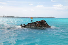 Shipwreck in Bermuda. Bow of the shipwreck in Bermuda Royalty Free Stock Photos