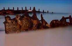 Shipwreck blaskiem księżyca Fotografia Royalty Free
