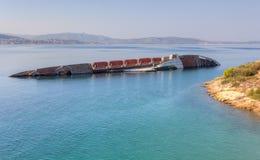 Shipwreck blisko wybrzeża Zdjęcia Royalty Free