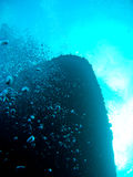 Shipwreck at the bottom of the ocean Stock Photo