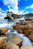 Shipwreck , cargo ship Stock Photo