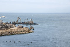 Shipwreck In Coquimbo - Chile Royalty Free Stock Photography