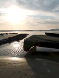Shipwreck at Coronado. Shipwreck and point loma, CA Stock Photography