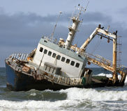 Shipwreck - costa de esqueleto - Namíbia imagens de stock