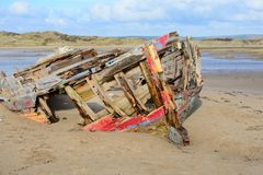 Shipwreck at crow point Royalty Free Stock Photos