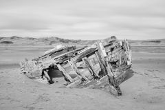Shipwreck at crow point Royalty Free Stock Photography
