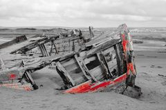 Shipwreck at crow point Stock Photography